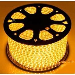 Світлодіодна стрічка 2835 120 Led/m Y 220В IP68 жовта, герметична, 1м