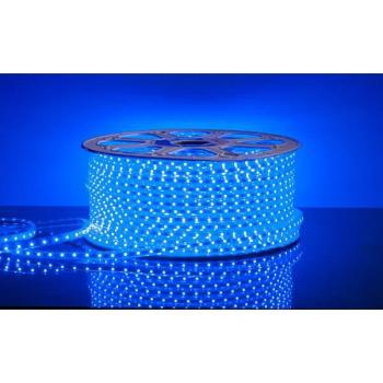 Світлодіодна стрічка 220В 120 Led/m 2835 B IP68 Standart, синя