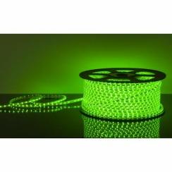 Світлодіодна стрічка 220В 120 Led/m 2835 G IP68 Standart, зелена