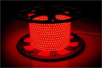 Светодиодная лента 220В 120 Led/m 2835 R IP68 Standart, красная