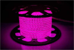 Светодиодная лента 220В 120 Led/m 2835 P IP68 Standart, розовая