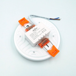 Светильник светодиодный врезной Biom UNI-R12 12Вт круглый 5000К. Фото 3