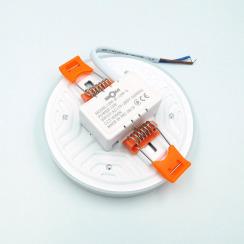 Светильник светодиодный врезной Biom UNI-R18 18Вт круглый 5000К. Фото 4