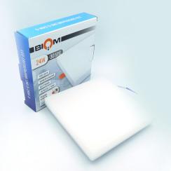 Світильник світлодіодний врізний Biom UNI-S24 24Вт квадратний 5000К. Фото 4