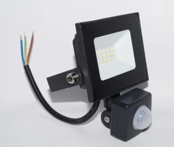 Светодиодный прожектор Neomax 10W с датчиком движения SMD Slim 6000К 220V IP65 - copy