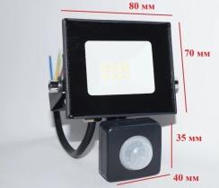Светодиодный прожектор Neomax 10W с датчиком движения SMD Slim 6000К 220V IP65 - copy. Фото 3