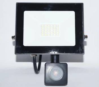 Світлодіодний прожектор Neomax 20W з датчиком руху SMD Slim 6000К 220V IP65