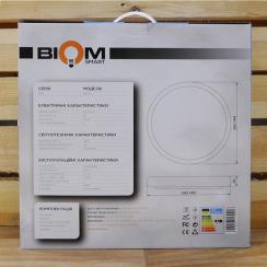 Світильник світлодіодний Biom SMART SML-R15-50 3000-6000K 50Вт з д/к . Фото 7