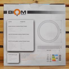 Светильник светодиодный Biom SMART SML-R17-50 3000-6000K 50Вт с д/у. Фото 5