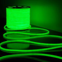Світлодіодний неон Standart SMD 2835 120 led IP67 220V зелений