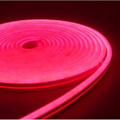 Світлодіодний неон Standart SMD 2835 120 led IP67 220V рожевий. Фото 2