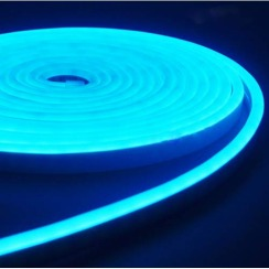 Светодиодный неон AVT 6*12мм 120 2835 12В IB голубой лед. Фото 2