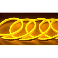 Світлодіодний неон AVT 6*12мм 120 2835 12В LY лимонно-жовтий. Фото 2