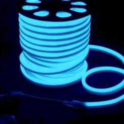 Светодиодный гибкий неон AVT 8*16мм 120 2835 12В NW IB голубой лед