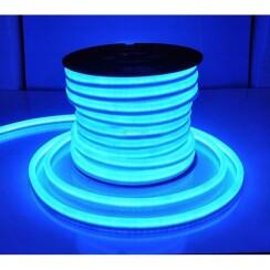 Светодиодный гибкий неон AVT 8*16мм 120 2835 12В NW IB голубой лед. Фото 2
