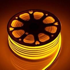 Светодиодный гибкий неон AVT 8*16мм 120 2835 12В Y желтый. Фото 2