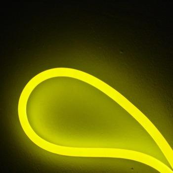 Светодиодный гибкий неон AVT 8*16мм 120 2835 12В LY лимонно-желтый