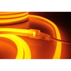 Светодиодный гибкий неон AVT 8*16мм 120 2835 12В O оранжевый. Фото 2