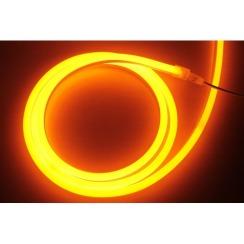 Светодиодный гибкий неон AVT 8*16мм 120 2835 12В O оранжевый. Фото 3