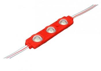 Светодиодный модуль AVT SMD 5730 3 led 1,5W 12В, IP65 красный с линзой