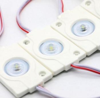Светодиодный модуль AVT 3030 1 led 1,5W 8000K, 12В, IP65 белый с линзой
