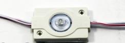 Светодиодный модуль AVT 3030 1 led 1,5W 8000K, 12В, IP65 белый с линзой. Фото 2