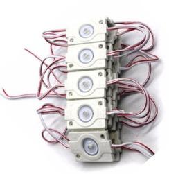 Светодиодный модуль AVT 3030 1 led 1,5W 8000K, 12В, IP65 белый с линзой. Фото 3