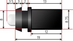 Светодиод быстрого монтажа Biom 9мм холодный белый. Фото 4