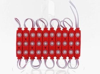 Светодиодный модуль Biom 5730 3 led 1,5W 12В, IP65 красный