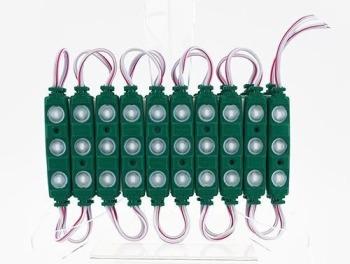 Світлодіодний модуль Biom 5730 3 led 1,5W 6500K, 12В, IP65 зелений