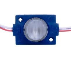 Светодиодный модуль AVT 3030 1 led 1,5W 12В, IP65 синий с линзой