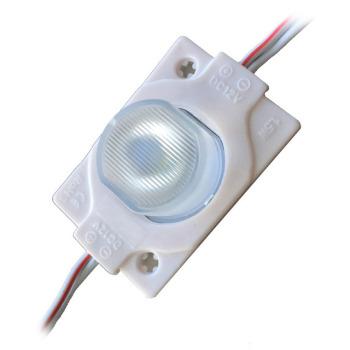 Світлодіодний модуль AVT 3030 1 led 1,5W 3000K, 12В, IP65 теплий білий з лінзою