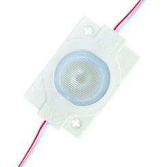 Світлодіодний модуль AVT 3030 1 led 1,5W 3000K, 12В, IP65 теплий білий з лінзою. Фото 2