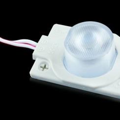 Світлодіодний модуль AVT 3030 1 led 1,5W 3000K, 12В, IP65 теплий білий з лінзою. Фото 4