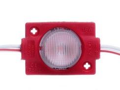 Светодиодный модуль AVT 3030 1 led 1,5W 12В, IP65 красный с линзой