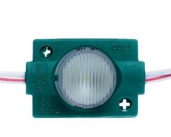 Светодиодный модуль AVT 3030 1 led 1,5W 12В, IP65 зеленый с линзой