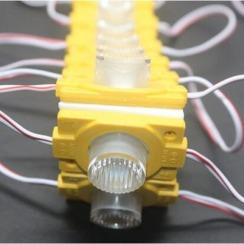 Світлодіодний модуль AVT 3030 1 led 1,5W 12В, IP65 жовтий з лінзою. Фото 2