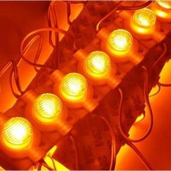 Світлодіодний модуль AVT 3030 1 led 1,5W 12В, IP65 жовтий з лінзою. Фото 3