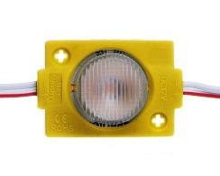 Світлодіодний модуль AVT 3030 1 led 1,5W 12В, IP65 жовтий з лінзою