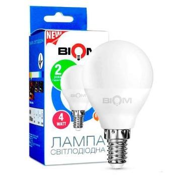 Светодиодная лампа Biom BT-545 G45 4W E14 3000К матовая