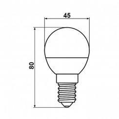 Светодиодная лампа Biom BT-545 G45 4W E14 3000К матовая. Фото 3