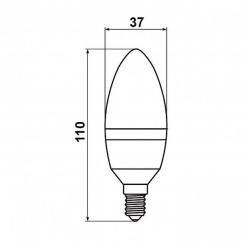 Светодиодная лампа Biom BT-589 C37 9W E14 4500К матовая. Фото 3