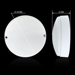Світильник світлодіодний ЖКХ Biom MPL-R9-6 9W 6000K IP65 круглий. Фото 5