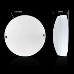 Світильник світлодіодний ЖКХ Biom MPL-R18-6 18W 6000K IP65 круглий. Фото 5