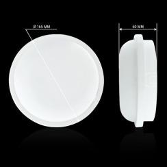 Світильник світлодіодний ЖКХ Biom SMPL-R15-6 15Вт 6000К з датчиком руху. Фото 4