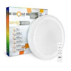 Світильник світлодіодний Biom SMART SML-R19-80-RGB 3000-6000K 80Вт+16Вт RGB с д/к +APP