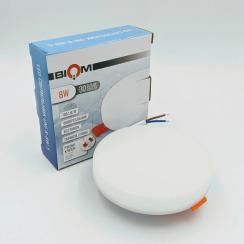 Светильник светодиодный врезной Biom UNI-R8 8Вт круглый 5000К. Фото 4