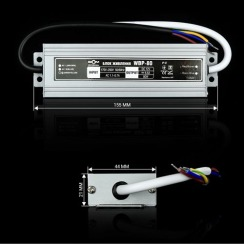 Блок питания BIOM Professional DC12 80W WBP-80 6,6А герметичний. Фото 2