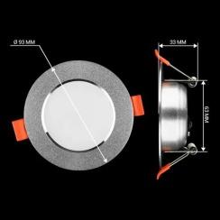 Светильник светодиодный Biom DF-6G 6Вт серый круглый 5000К. Фото 4